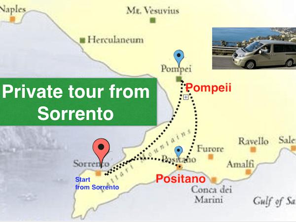 From Sorrento to Pompeii and Positano