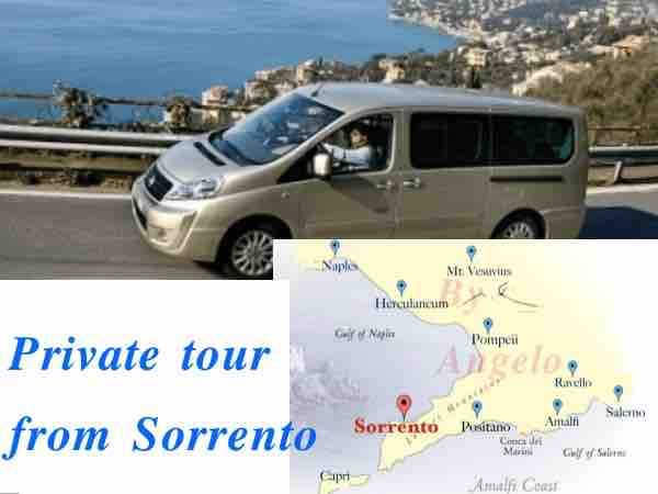 Private day trip Sorrento to Pompeii and Amalfi coast