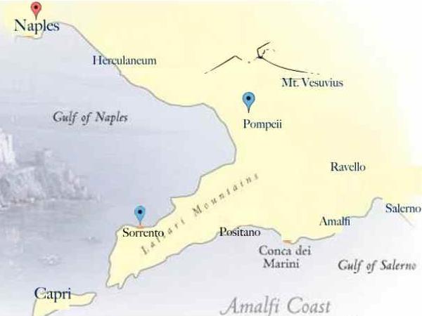 Private tour/shore excursion from Naples to Pompeii and Sorrento