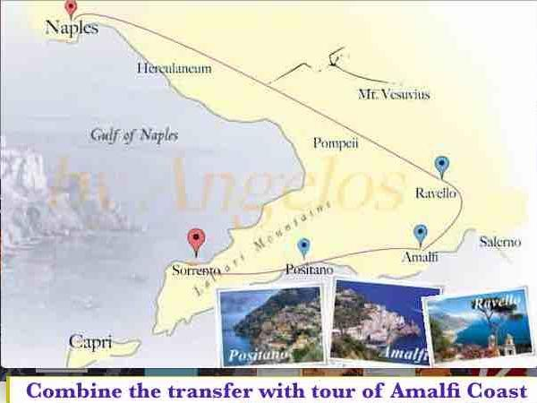 Private transfer/tour from Sorrento to Naples through Amalfi Drive