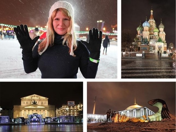 Night Moscow lights private tour by car
