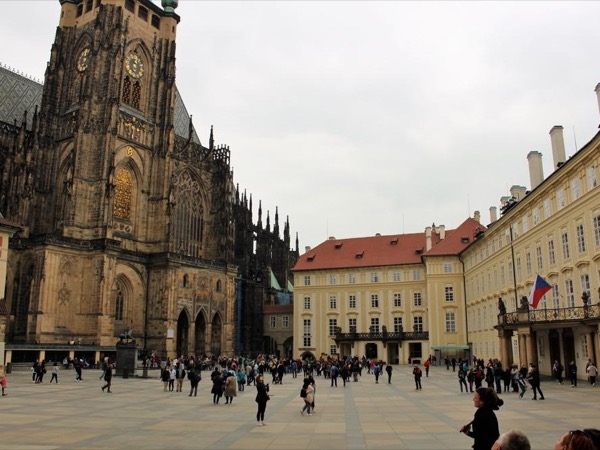 The Prague Castle interiors and exteriors