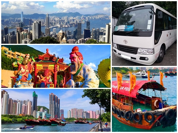 Hong Kong Island highlights private bus tour
