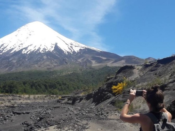 Hiking excursion El Solitario at Osorno volcano