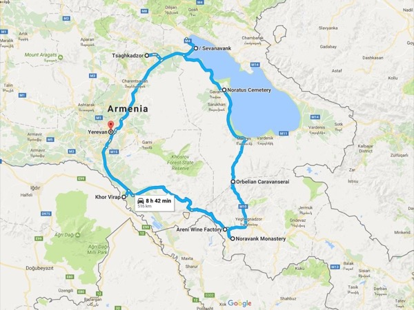 Let's make a circle around Armenia
