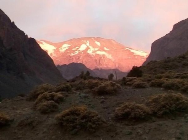 Sunset at the Andes Mountain