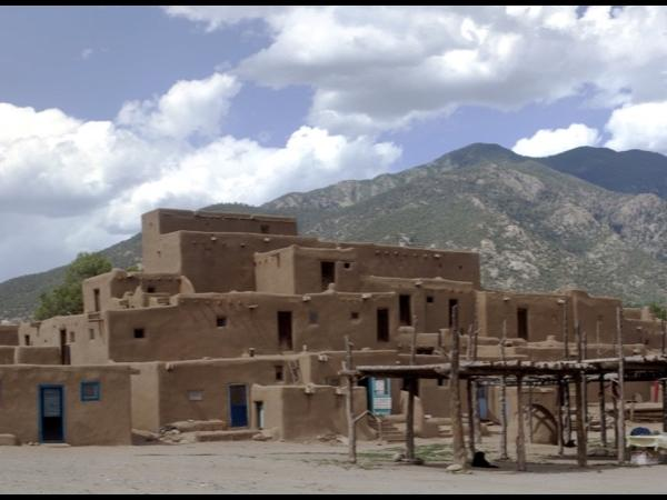 Taos Pueblo via High Road