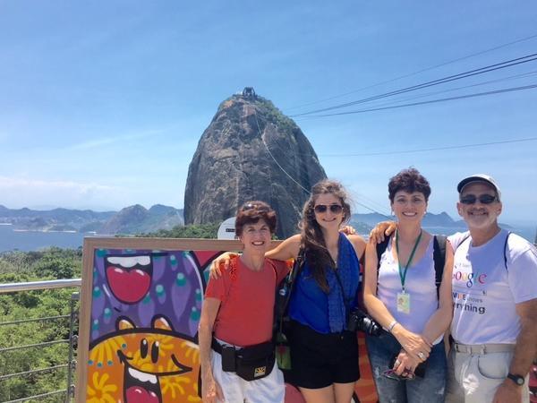 The post card of Rio de Janeiro