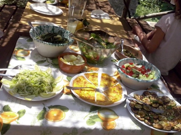 Cooking in a farm of Amalfi