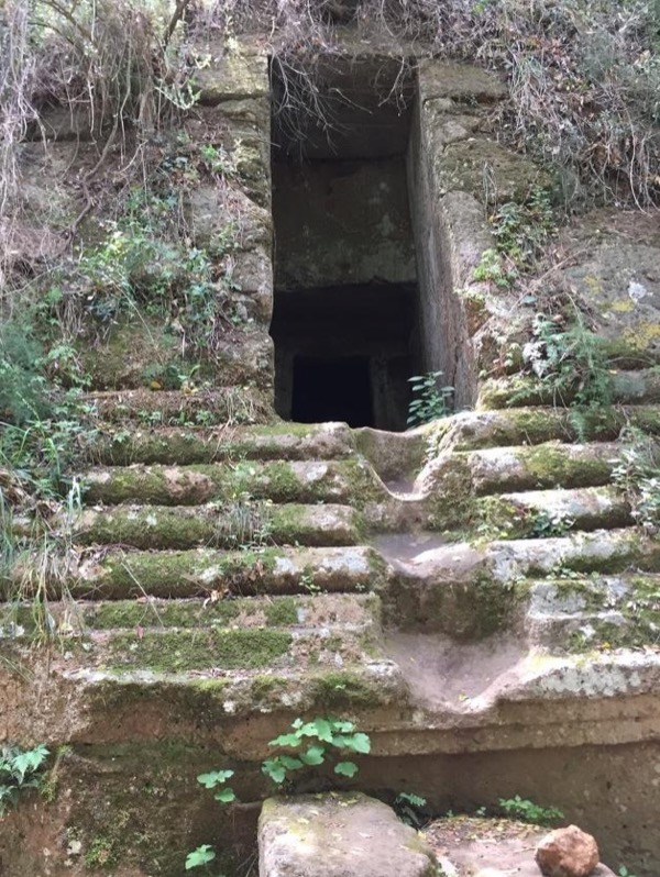 The Etruscan tombs of Cerveteri - Unesco Wolrd Heritage Site- Lake Bracciano and Castle Odescalchi, the quaint village of Ceri.