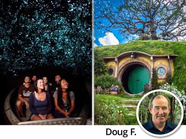 Top 2 Tour - Hobbiton Movie Set & Waitomo Glowworm Caves Shore Excursion