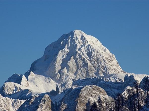 Climbing on Mt. Mangart